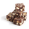 Кубики шоколадной колбасы
